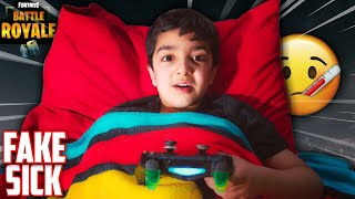 5 YEAR OLD PRETENDS TO BE SICK TO SKIP SCHOOL AND PLAY FORTNITE! | FAKING SICK TO PLAY FORTNITE