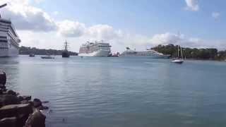 Busy Port Castries.
