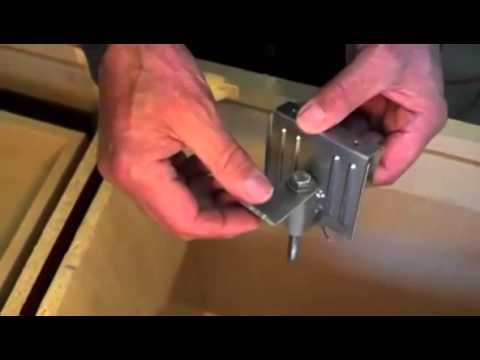 Undermount Bathroom Sink Supports super fast sink bracket - animated install - fastest undermount