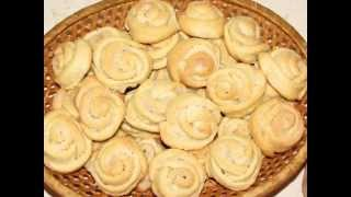 Очень вкусное творожное печенье розочки