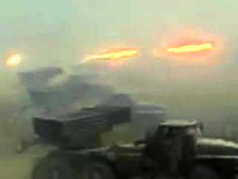 Grad BM-21 MRLS Launching Rockets
