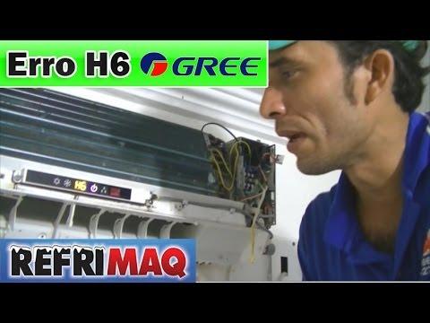 Erro H6 ar condicionado gree