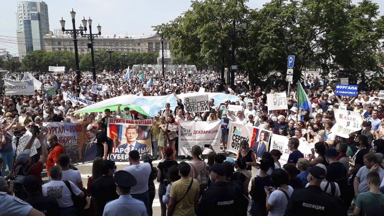 12 день протеста за Фургала проходит в Хабаровске, пока Дегтярев кушает мороженное и нарушает ПДД