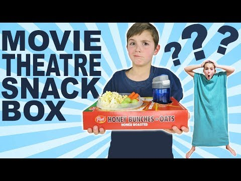 How To Make Movie Theatre Snack Box | Pajanket Movie Night For Kids