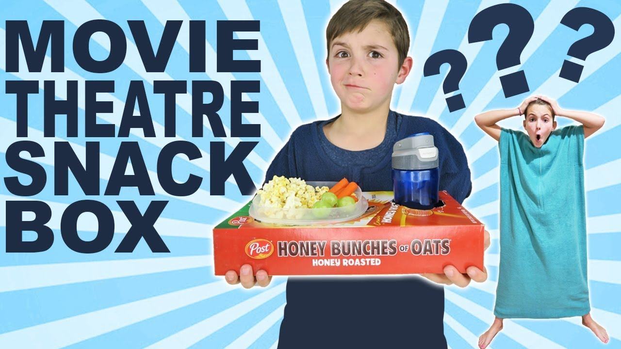 How To Make Movie Theatre Snack Box Pajanket Movie Night For Kids Youtube