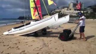 Easiest way to launch your catamaran