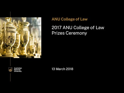 2017 ANU College of Law Prizes ceremony