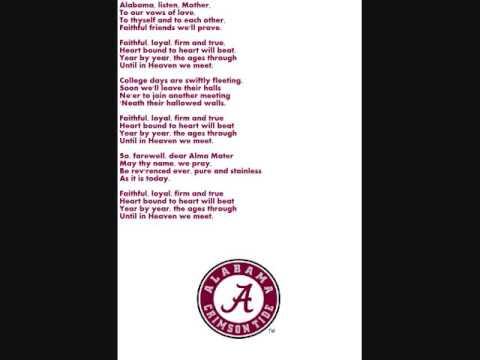 Alabama Alma Mater