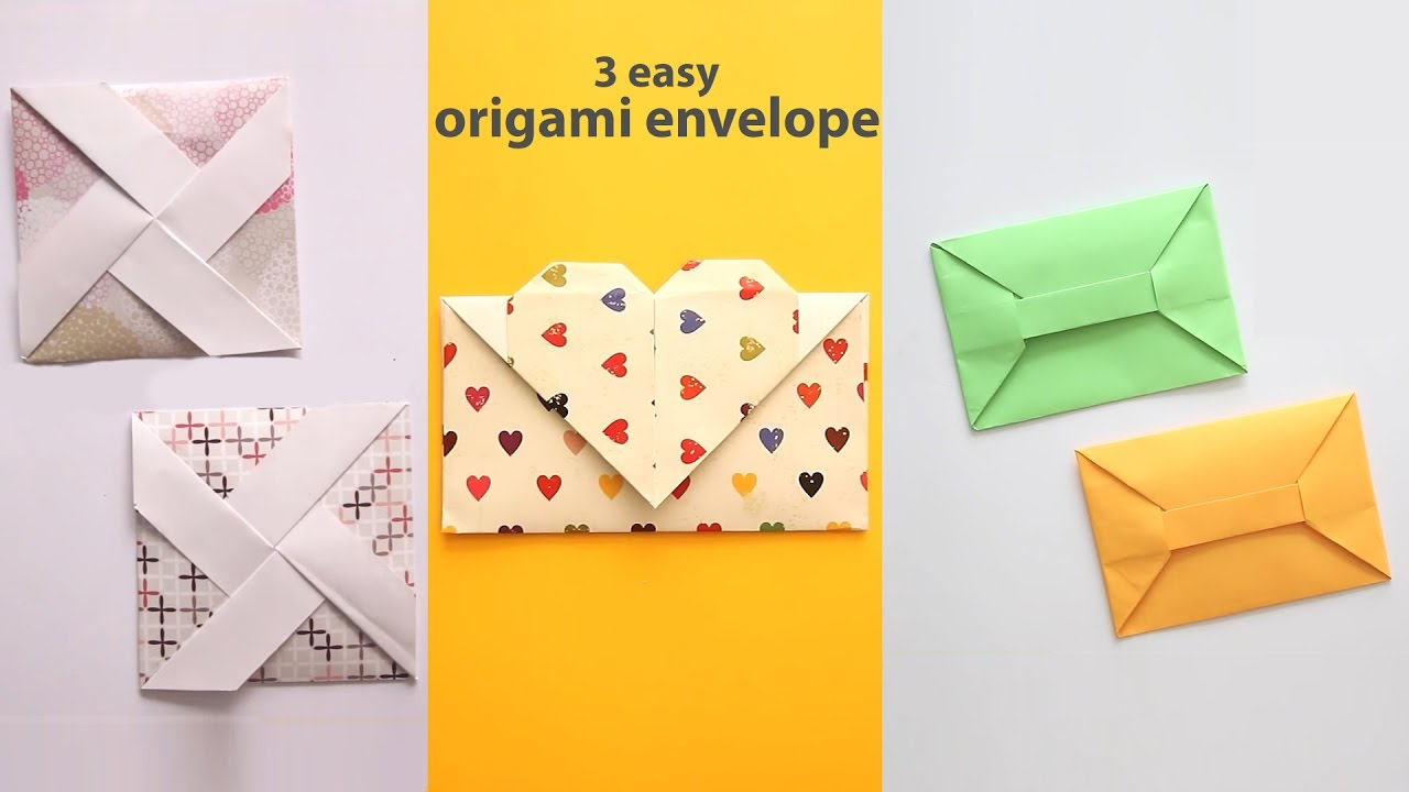 3 easy origami envelopes youtube