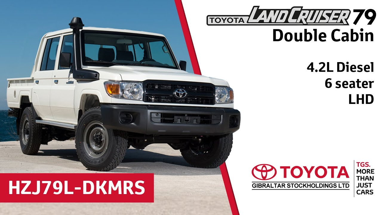 toyota land cruiser 79 double cabin 4 2l diesel 6 seater lhd youtube. Black Bedroom Furniture Sets. Home Design Ideas