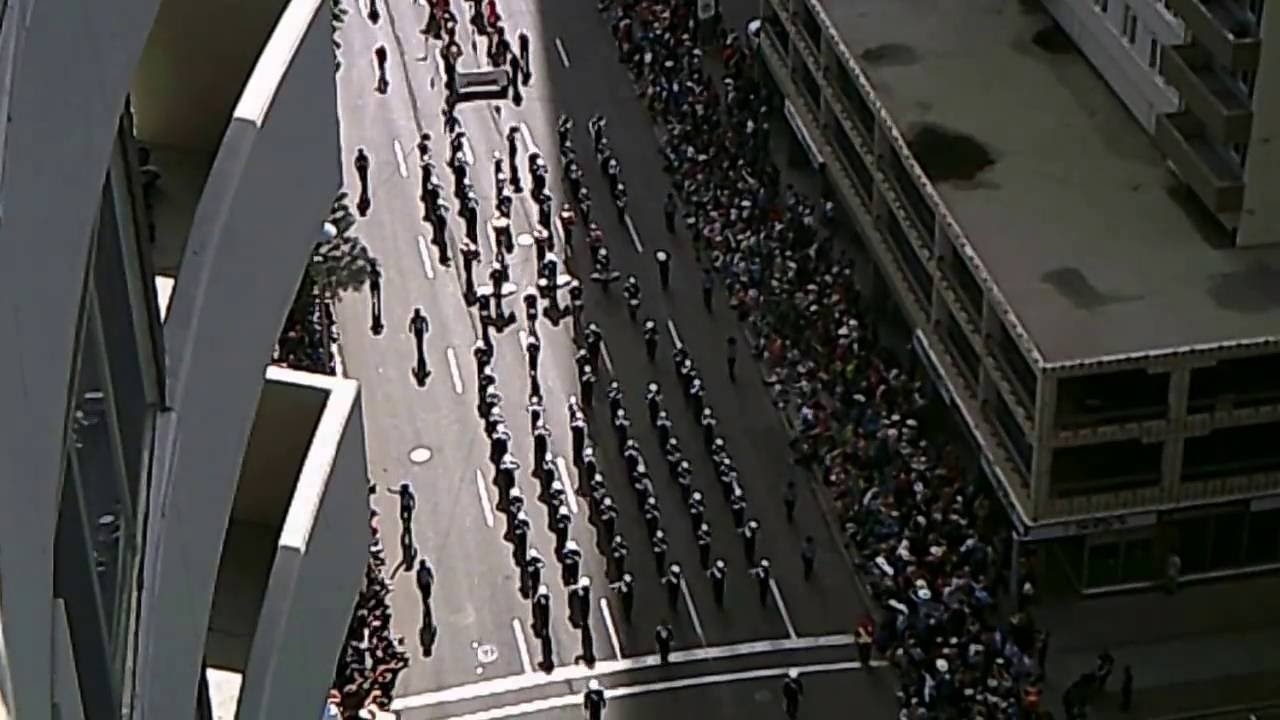 Calgary Stampede Parade 2016 From Above Youtube