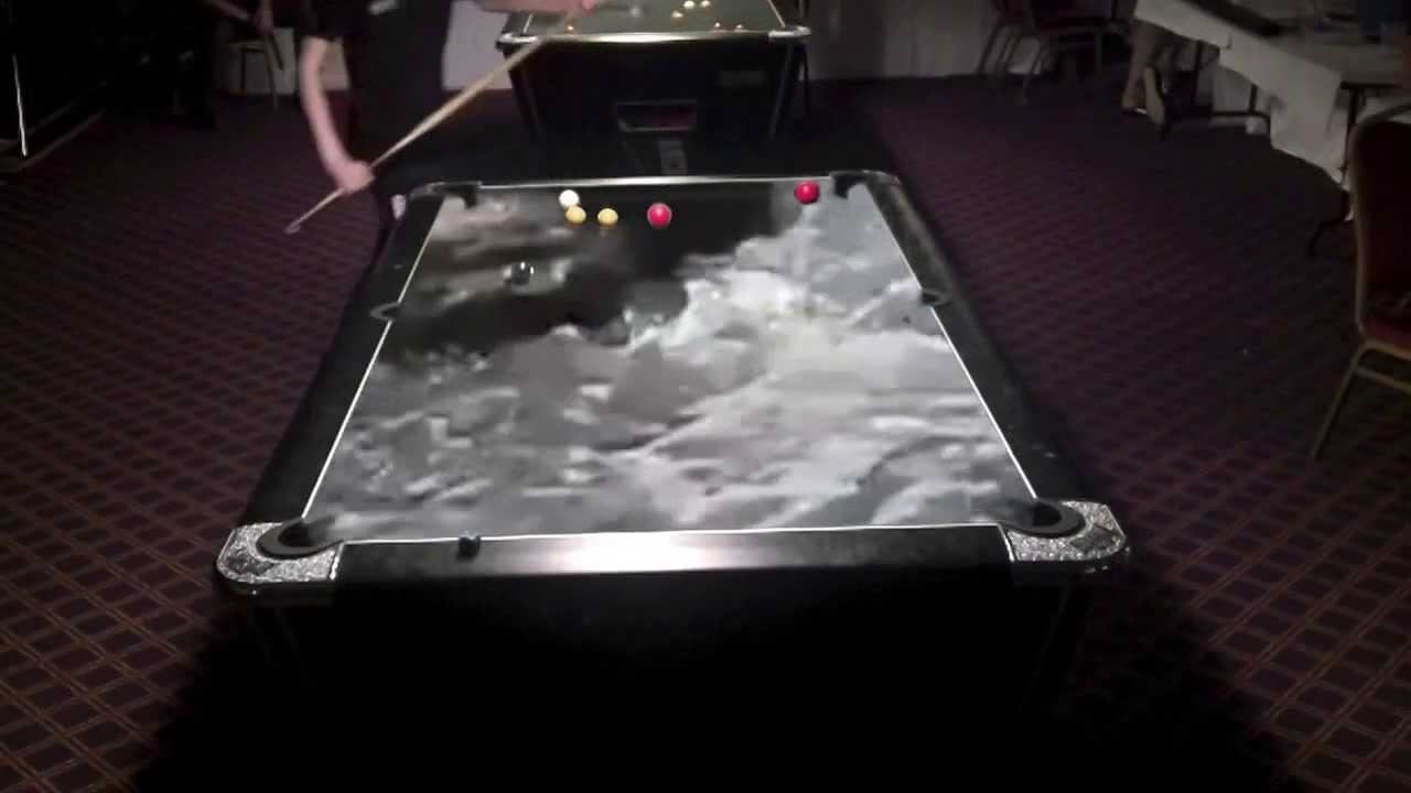 Playing Pool On A Water Pool Table YouTube - Electronic pool table