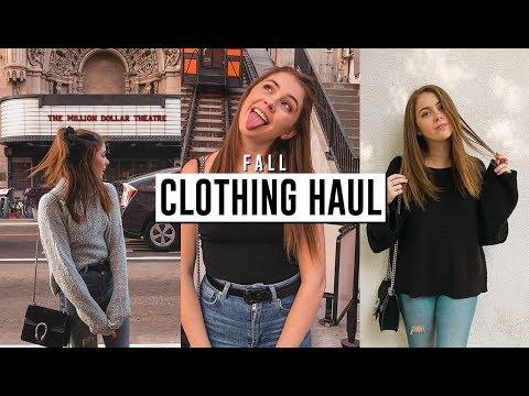 FALL CLOTHING HAUL! Urban Outfitters, Brandy Melville, Zara, Show Me Your Mumu // Jill Cimorelli