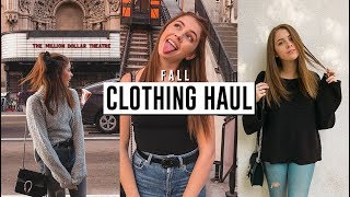 fall clothing haul  urban outfitters  brandy melville  zara  show me your mumu    jill cimorelli