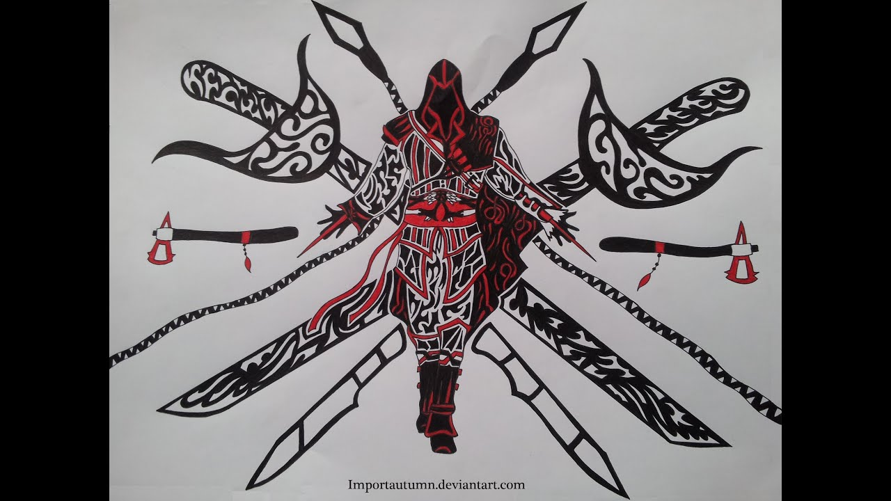 Assassins Creed - Tribal Style Drawing Importautumn