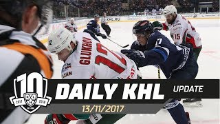 Daily KHL Update - November 13th, 2017 (English)