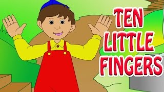 Ten Little Fingers | Animated Nursery Rhyme in English