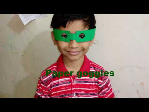 how to make a paper Goggle\Origami Sunglasses\How to make paper Sunglasses