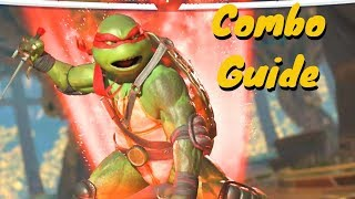 Raphael Combo Guide! Ninja Turtles Injustice 2!