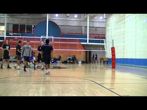 Men's Volleyball Air Force vs. Colorado Boulder Scrimmage Games 1 & 2