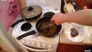 Лосятина с чечевицей и стейки из лосятины