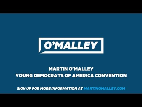 Martin O'Malley speaking at the Young Democrats of America Convention