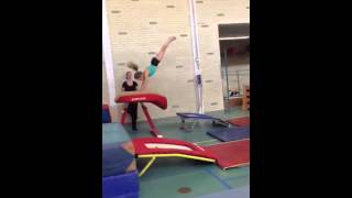 Isabella kan lekker springen!