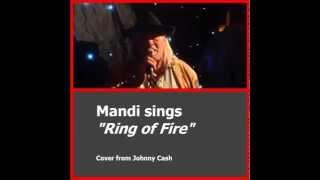 """Mandi G. Whitewolf sings """"Ring of Fire"""""""