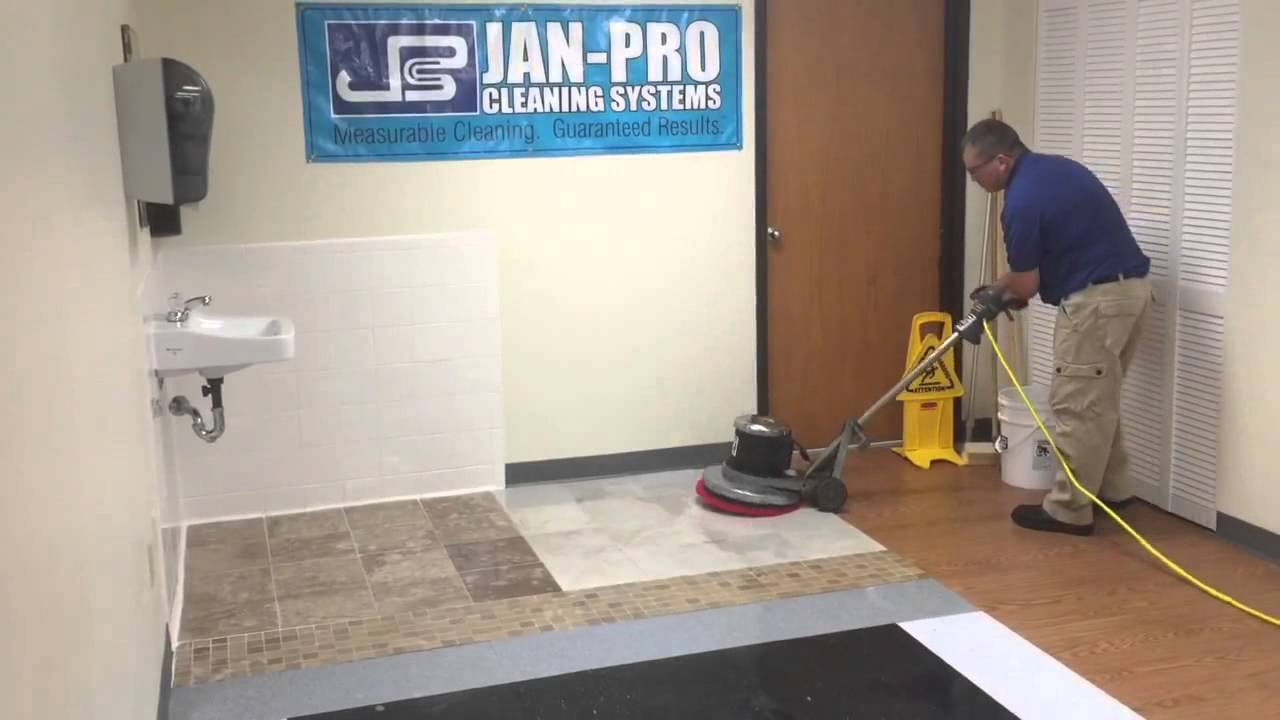 JanPro Columbus - The best way to do a grout scrub on ceramic floor ...