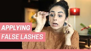 How To Apply False Lashes | Step-By-Step Guide | Beauty BFF | MissMalini