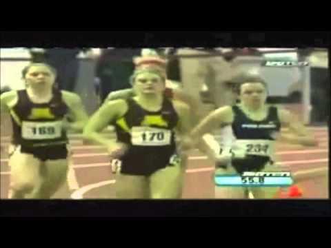 Во время спринта на 600м. она УПАЛА!! Но шок она победила!