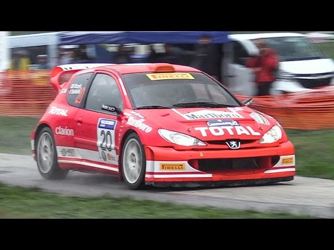 Peugeot 206 WRC: Perfect Car To Celebrate the New Year's Eve? - Crazy Anti-Lag Backfires!!