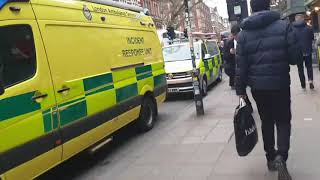 London Bomb Scare Dean Street 03 02 2020 Emergency services