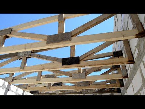 Как перекрыть пролет больше 6 метров. Часть 2. How To Build A Traditional Barn Roof.
