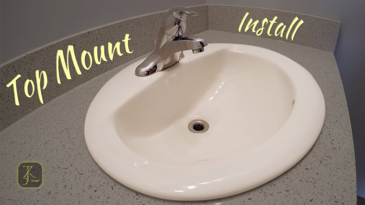How To Install Bathroom Sink Top