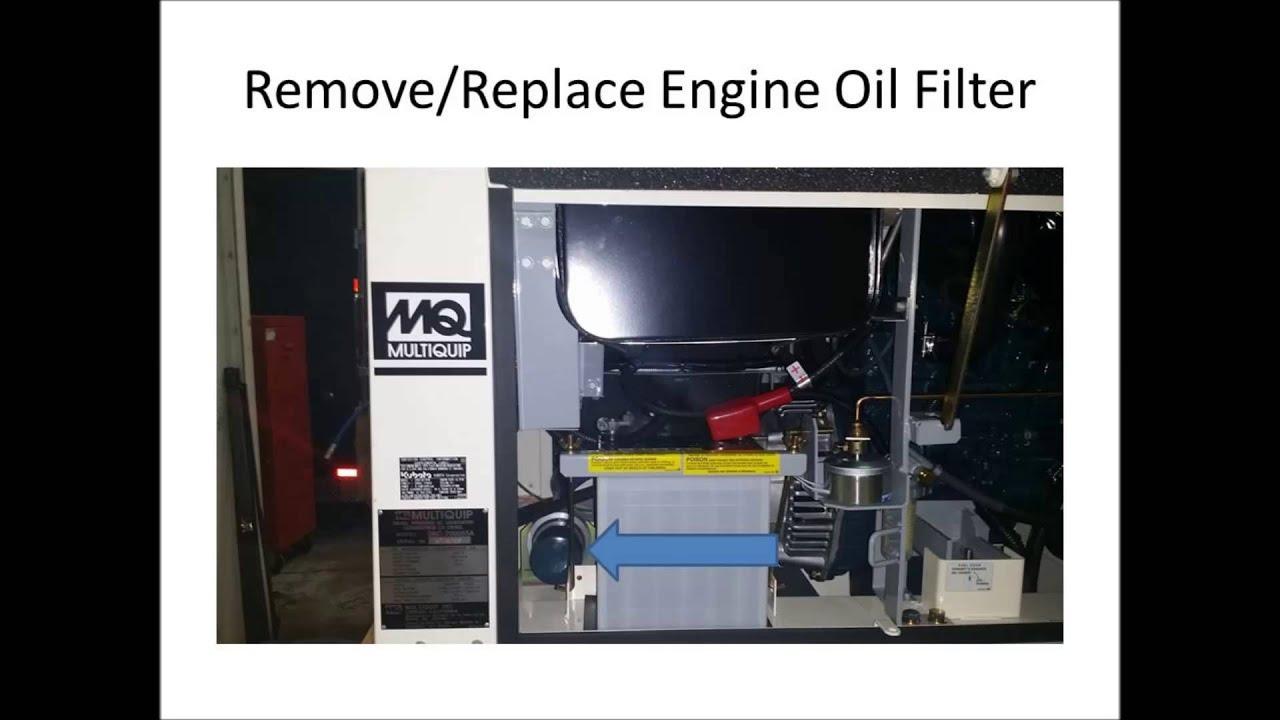 servicing the multiquip da7000 generator