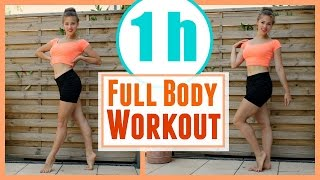 1Hour of a Hardcore Full Body Workout! [Cardio +Strengthening] to do at home