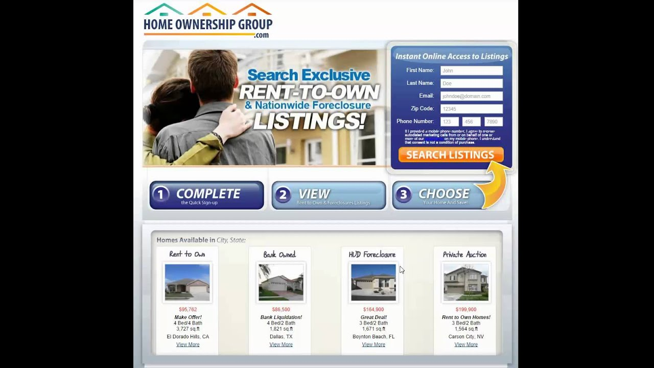 Search Rental Homes: Homes For Rent To Own By Owner