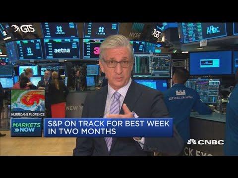 US stocks having best day of September at open