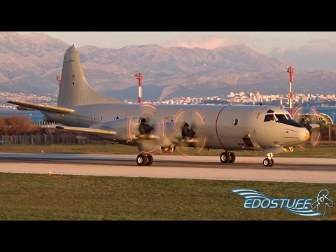 Lockheed P-3C Orion - Beautiful Sunset Takeoff from Split Airport SPU/LDSP