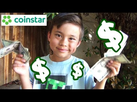 Cashing In At The COINSTAR!  Is EvanTubeHD Rich? Find Out!