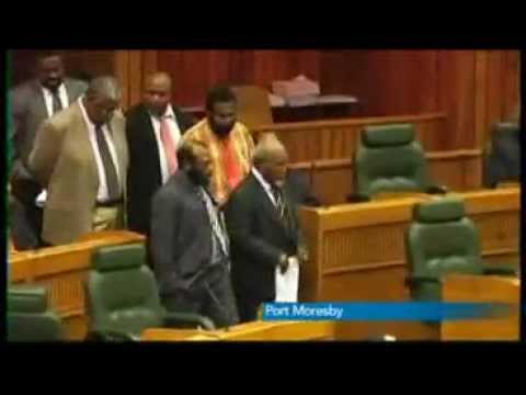 20120118 ABC Radio Australia News Stories Somare ordered out of parliament.wmv