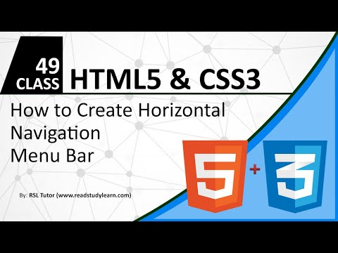 How To Create Horizontal Navigation Bar Using HTML & CSS -How To Create Nav Bar Best Example Part 49