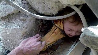 El drama de los niños atrapados en Ghouta oriental, el suburbio de Damasco bombardeado casi a diario