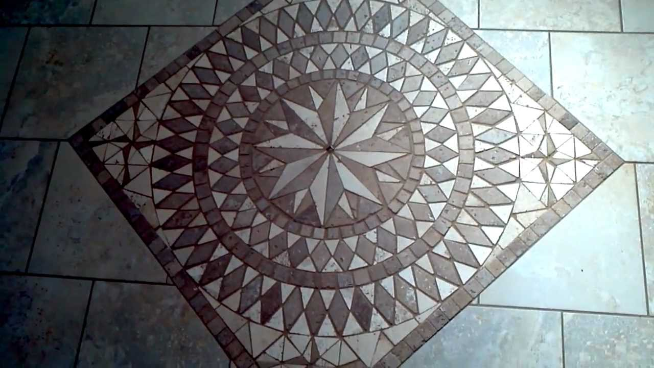 How To Install Mosaic Tile Medallion Inlay Youtube