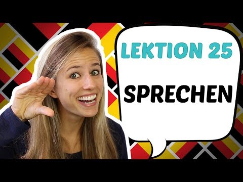 German Lesson Learn The Verb To Speak In German