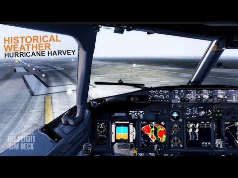 Prepar3D v4 | Historical Weather | Hurricane Harvey | PMDG 737-900 NGX