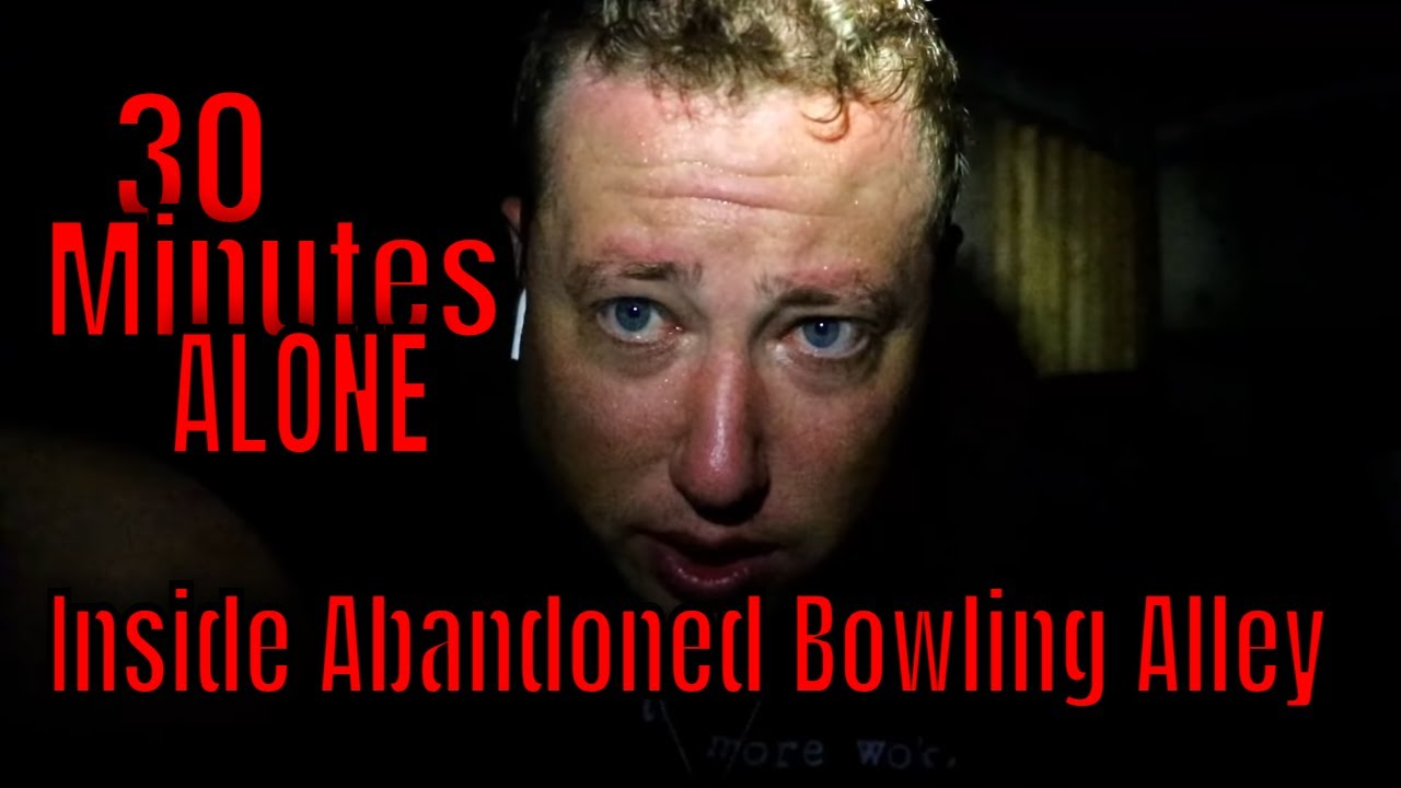 """(ALONE AT THE HAUNTED BOWLING ALLEY) ROBS CHALLENGE """"EVERYTHING LEFT BEHIND"""""""