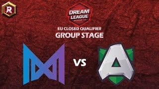 NIGMA vs ALLIANCE (BO3) - DreamLeague Season 13 EU Closed Qualifier