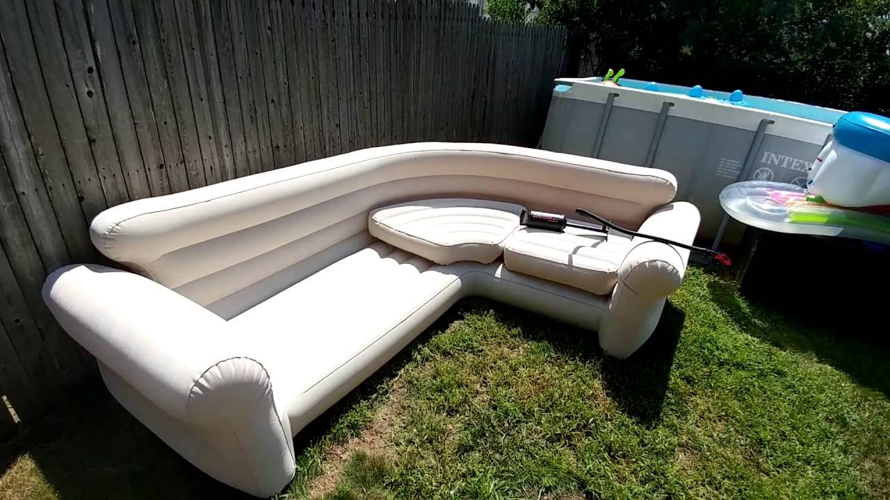 Intex Blow Up Sectional Youtube
